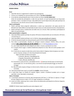 avaliação até a data limite de 22 DE JUNHOpara o e