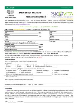 Data limite: 03/10/2015 Para se inscrever: favor