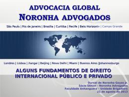 campos de incidência do direito internacional privado