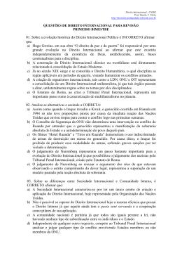 01. Sobre a evolução histórica do Direito Internacional