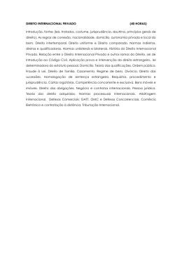 DIREITO INTERNACIONAL PRIVADO (40 HORAS