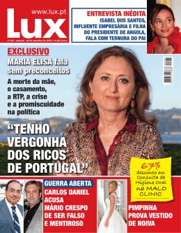 """""""TENHO VERGONHA DOS RICOS DE PORTUGAL"""" - Lux"""