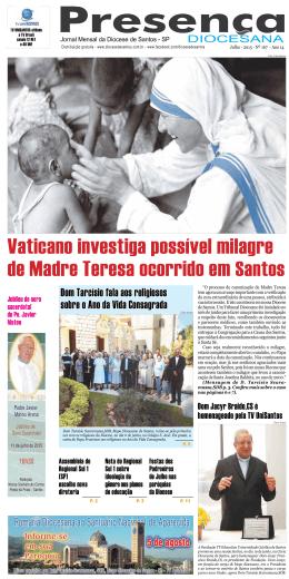 Julho - Diocese de Santos