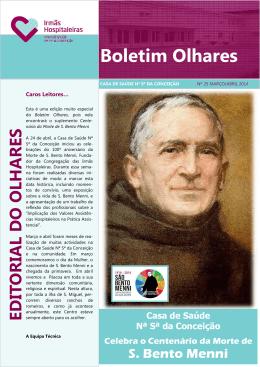Boletim Olhares nº25 Março e Abril 2014