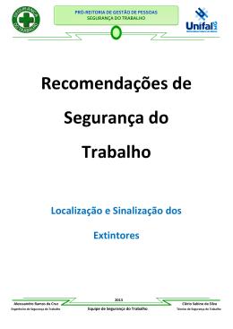 Recomendação de Sinalização Extintores - Unifal-MG