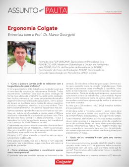 Ergonomia Colgate - Colgate Profissional