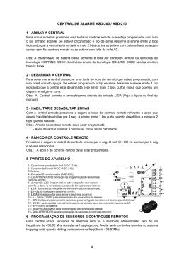 1 CENTRAL DE ALARME ASD-200 / ASD-210 1
