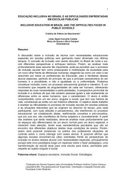 1 educação inclusiva no brasil e as dificuldades enfrentadas em