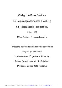 HACCP - adapcde