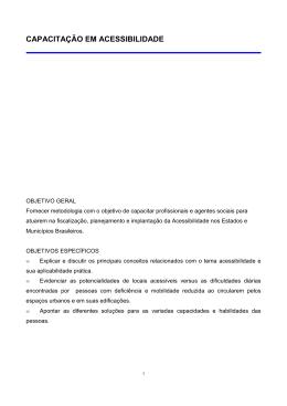 Capacitação em Acessibilidade - Secretaria Nacional de Promoção