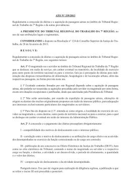 ATO N° 339/2013 Regulamenta a concessão de diárias e a
