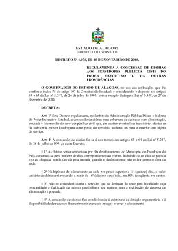 Decreto no 4.076-Diarias