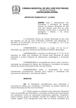 Instrução Normativa 13 - Câmara Municipal de São José dos Pinhais