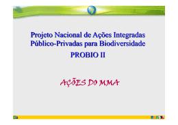 Apresentação Ministério do Meio Ambiente