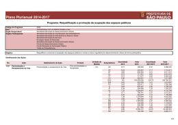 PPA 2014-2017 - Prefeitura de São Paulo