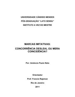 marcas imitativas - AVM Faculdade Integrada