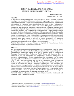 direito à educação no brasil: exigibilidade constitucional