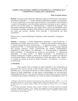 Rádios Comunitárias: Direito Fundamental à Informação e