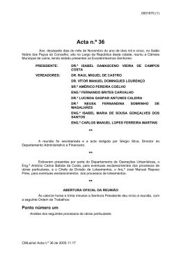 Acta n.º 36 - Câmara Municipal de Leiria