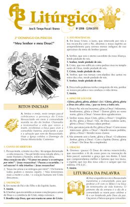 nº 2098 — 12/04/2015 — 2º domingo da páscoa