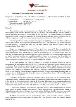NOSSA FILIAÇÃO - Ministério Restauração e Vida