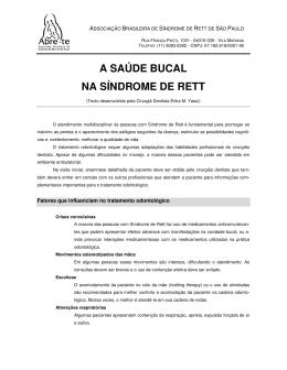 A SAÚDE BUCAL NA SÍNDROME DE RETT - Abre-Te