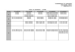 coordenadoria de graduação avaliações finais 1º semestre/2013