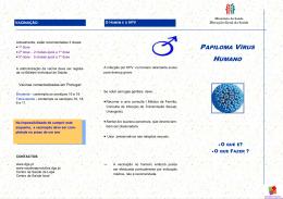 Folheto informativo HPV