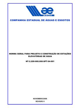 COMPANHIA ESTADUAL DE ÁGUAS E ESGOTOS