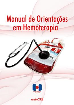 Manual de Orientações para uso de - Hemocentro