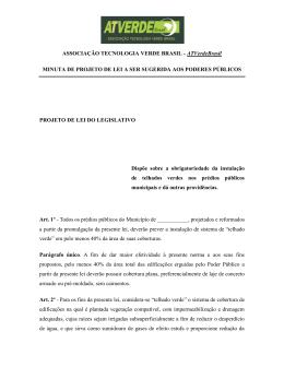 projeto de lei do legislativo - Associação Tecnologia Verde Brasil