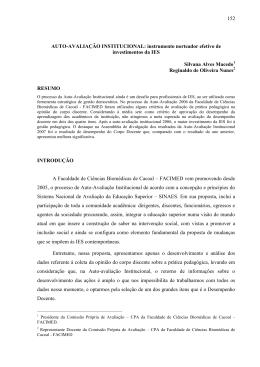AUTO-AVALIAÇÃO INSTITUCIONAL: instrumento