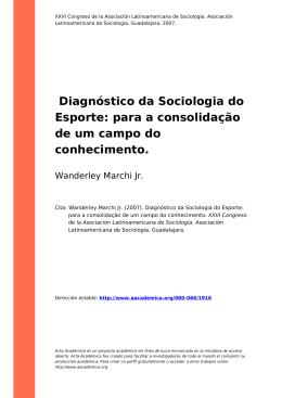 Diagnóstico da Sociologia do Esporte: para a