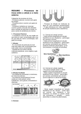 RESUMO SOBRE TRANSPORTE INTERMEMBRANA-1