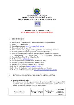 Relatório de 2014 - UFES - Universidade Federal do Espírito Santo