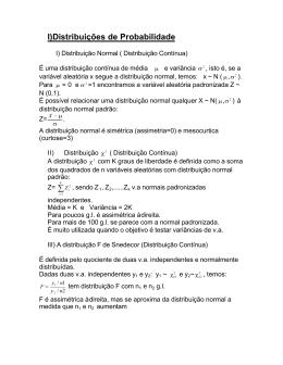 I)Distribuições de Probabilidade