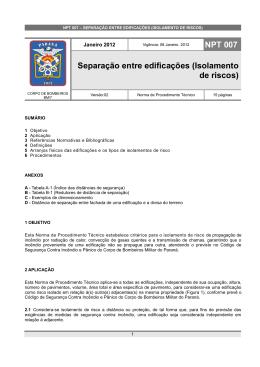 NPT 007-11 - Corpo de Bombeiros do Paraná