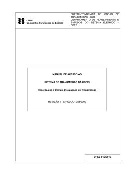 Estudo 012-2010 MANUAL DE ACESSO À TRANSMISSÃO