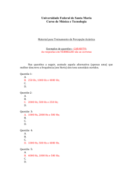Exemplos de questões - Gabarito das Respostas