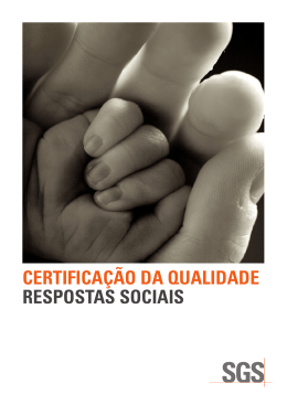 certificação da qualidade respostas sociais
