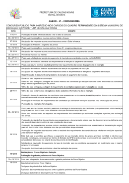 Anexo VI - Cronograma