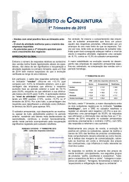 Análise de Conjuntura – 1º trimestre de 2015