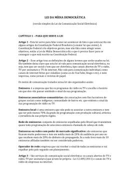 Confira documento sobre a Lei da Mídia Democrática. - CRESS-PR