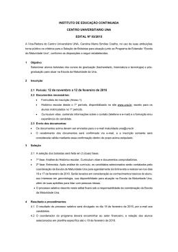 INSTITUTO DE EDUCAÇÃO CONTINUADA CENTRO