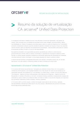Resumo da solução de virtualização CA arcserve® Unified Data