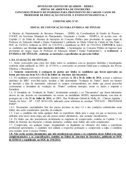DIVISÃO DE GESTÃO DE QUADROS – DERH-1 EDITAL DE