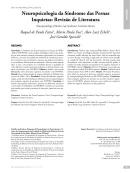 Neuropsicologia da Síndrome das Pernas Inquietas: Revisão de