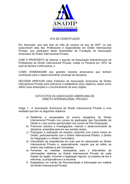 asociación americana de derecho internacional privado