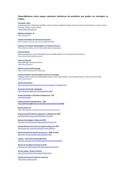 Links para consulta - 2013