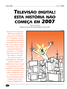Televisão digital: esta história não começa em 2007
